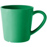 GET C-107-FG Diamond Mardi Gras 8 oz. Rainforest Green Melamine Mug - 24 / Case