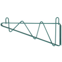 Regency 14 inch Deep Wall Mounting Bracket Set for Green Epoxy Wire Shelving