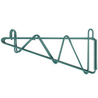 Regency 14 inch Deep Double Wall Mounting Bracket for Adjoining Green Epoxy Wire Shelving