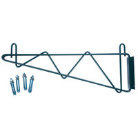 Regency 18 inch Deep Wall Mounting Bracket Set for Green Epoxy Wire Shelving