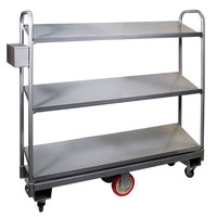 Winholt 300-60D/SDR U-Boat Cart with 3 Slanted Shelves - 16 inch x 63 inch