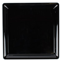 Fineline Platter Pleasers 3581-BK 18 inch x 18 inch Plastic Black Square Tray