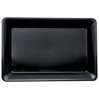 Fineline Platter Pleasers 3518-BK 12 inch x 18 inch Plastic Black Rectangular Tray