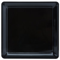 Fineline Platter Pleasers 3516-BK 16 inch x 16 inch Plastic Black Square Tray
