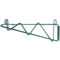 "Regency 18"" Deep Double Wall Mounting Bracket for Adjoining Green Epoxy Wire Shelving"