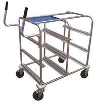 Win-Holt ST-DCT-9161-UT Aluminum E-Commerce Picking Lug Rack with Ergonomic Handles - 26 1/2 inch x 38 inch x 48 inch