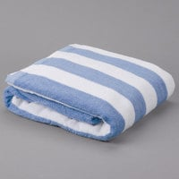 Blue Stripe Hotel Pool Towel - 12/Pack