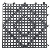 12 inch x 12 inch Black Interlocking Bar Mat
