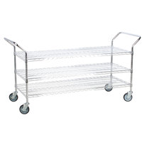 Regency 18 inch x 60 inch Three Shelf Chrome Heavy Duty Utility Cart
