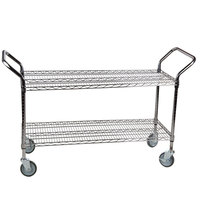 "Regency 24"" x 42"" Two Shelf Chrome Heavy Duty Utility Cart"