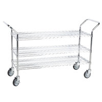 Regency 24 inch x 48 inch Three Shelf Chrome Heavy Duty Utility Cart