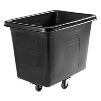 Rubbermaid 1867538 Black 12 Cu. Ft. Bulk Cube Truck (400 lb.)
