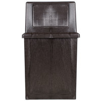 Continental 5765BN King Kan 65 Gallon Brown Waste Receptacle