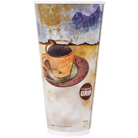 LBP 3058 Monaco 24 oz. Printed Double-Wall Poly Paper Hot Cup - 500/Case