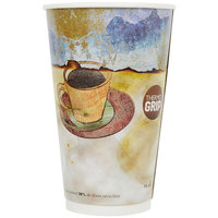 LBP 3011 Monaco 16 oz. Printed Double-Wall Poly Paper Hot Cup - 540/Case