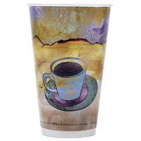 LBP 3011 Monaco 16 oz. Printed Double-Wall Poly Paper Hot Cup - 540 / Case