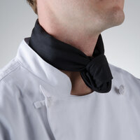 Chef Revival H500BK 38 inch x 28 inch Black Poly-Cotton Neckerchief