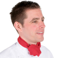Chef Revival RD 38 inch x 28 inch Red Poly-Cotton Chef Neckerchief / Bandana