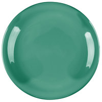 Carlisle 4300609 Durus 7 1/4 inch Green Narrow Rim Melamine Plate - 48/Case
