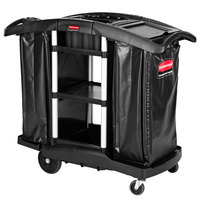 Rubbermaid 1861441 Executive High Capacity Janitor / Recycling Cart with Bins