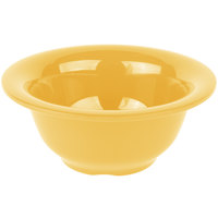 Carlisle 4303822 Durus 10 oz. Honey Yellow Rimmed Melamine Nappie Bowl - 24/Case
