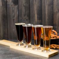 Libbey Craft Brews Beer Flight Set - (4) 4.75 oz. Glasses with Natural Wood Paddle