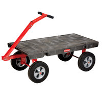 Rubbermaid FG447800BLA 5th Wheel Wagon Platform Truck - 48 inch x 24 inch