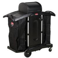 Rubbermaid FG9T7800BLA Executive High Security Housekeeping Cart