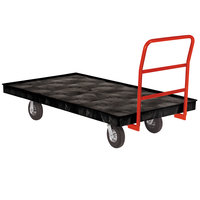 Rubbermaid FG9T2100BLA Crossbar Handle Platform Truck - 70 inch x 40 inch