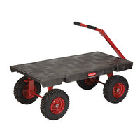 Rubbermaid 4477 5th Wheel Wagon Platform Truck - 48 inch x 24 inch (FG447700BLA)