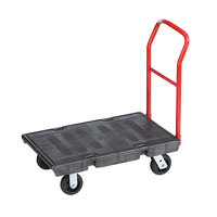 Rubbermaid FG440300BLA Single Handle Heavy Duty Platform Truck - 36 inch x 24 inch