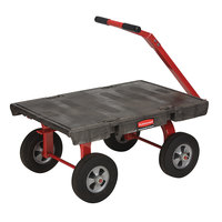 Rubbermaid 4476 5th Wheel Wagon Platform Truck - 36 inch x 24 inch (FG447600BLA)