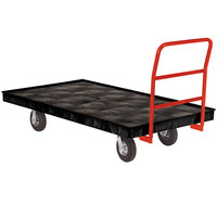 Rubbermaid FG9T1100BLA Crossbar Handle Platform Truck - 70 inch x 40 inch