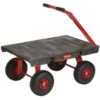 Rubbermaid FG447500BLA 5th Wheel Wagon Platform Truck - 36 inch x 24 inch