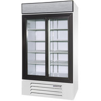 Beverage Air LV38-1-W-LED White LumaVue 43 inch Refrigerated Glass Door Merchandiser with LED Lighting- 38 Cu. Ft.