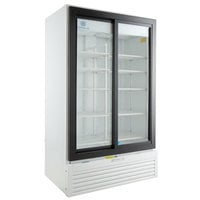 Beverage-Air LV38HC-1-W LumaVue 43 inch White Refrigerated Glass Door Merchandiser with LED Lighting
