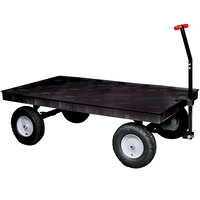 Rubbermaid FG9T0600BLA Heavy Duty 5th Wheel Wagon Platform Truck - 70 inch x 40 inch
