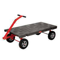 Rubbermaid FG448000BLA 5th Wheel Wagon Platform Truck - 60 inch x 30 inch