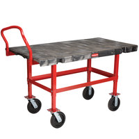 Rubbermaid FG447400BLA Work-Height Platform Truck - 60 inch x 30 inch