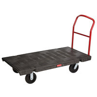 Rubbermaid FG446600BLA Single Handle Heavy Duty Platform Truck - 60 inch x 30 inch