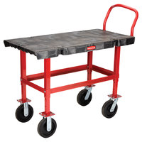 Rubbermaid FG447300BLA Work-Height Platform Truck - 48 inch x 24 inch