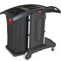 Rubbermaid FG9T7600BLA Executive Compact Folding Housekeeping Cart