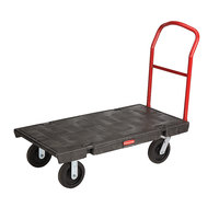 Rubbermaid FG444100BLA41 Single Handle Heavy Duty Platform Truck - 48 inch x 24 inch