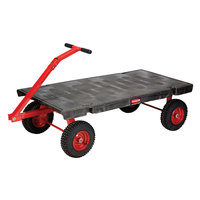 Rubbermaid FG447900BLA 5th Wheel Wagon Platform Truck - 60 inch x 30 inch