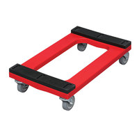Rubbermaid FG9T5500RED Polyethylene Flush Deck Dolly with Padded Deck - 30 inch x 18 inch