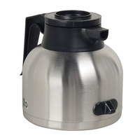 Bunn 43873.0000 64 oz. Stainless Steel Economy Thermal RFID Carafe with Black Top