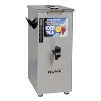 Bunn 03250.0043 TD4T Tall 4 Gallon Square Iced Tea Dispenser with Brew-Through Lid and Lift Handle