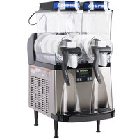Bunn 34000.0099 Ultra-2 HP LAFI Black and Stainless Steel Double 3 Gallon Liquid Autofill Slushy / Granita Frozen Drink Machine - 120V