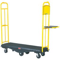 Rubbermaid FG9T5000BLA StockMate Restocking Truck (U-boat) with Standard Deck - 63 inch x 18 inch