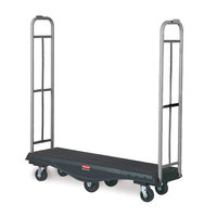 Rubbermaid FG9T5600BLA StockMate Restocking Truck (U-boat) with Standard Deck - 63 inch x 18 inch